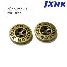 wholesale fashion metal four hole custom shirt buttons