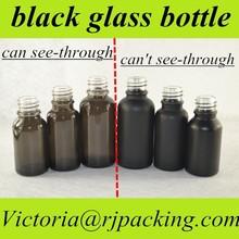 5ml 10ml 15ml 20ml black glass dropper bottle perfume sample spray glass black olive oil glass bottle