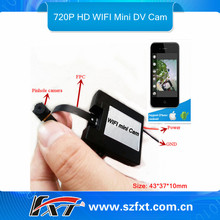 Mini Wifi transmitter 30fps audio video dual recording spy gadget camera,compatible with IPhone IPad IOS, Android google system