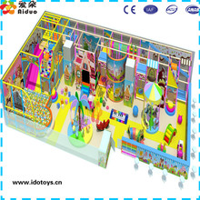 2015 Customized commercail kid's zone indoor soft playground equipment toddler swing
