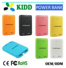 KIDD manual for power bank credit card 2 USB output port with micro cable and pouch