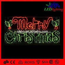 outdoor colorful waterproof led piercing letters, led lighted letters for merry christmas