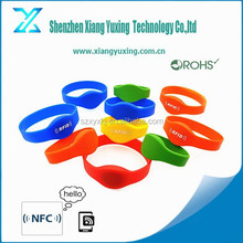 Different size swimming rfid wristbands silicon waterproof
