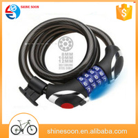 Factory 's price for 2015 new style high quality bike bicycle lock with LED light