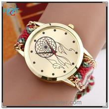Geneva knitted fancy bracelet watch for hot sale girls new design vogue watch