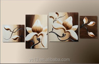 4pcs panel excellent quality oil painting flower picture PL-116
