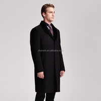New style wholesale 2016 black long men's wool coat