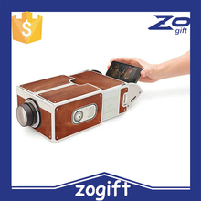 ZOGIFT Cardboard Mini Smartphone led Projector/DIY Mobile Phone Projector Portable Cinema For Iphone Android Proyector