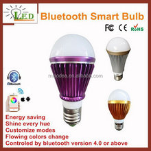 Top quality promotional bluetooth led bulb e27 fitting