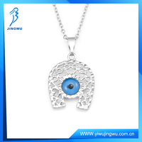 Handmade Jewelry horse necklace with eye glass