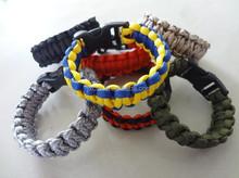 Promotion Outdoors self rescue paracord bracelet survival bracelets