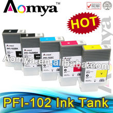 With imported chip PFI-102 refillable ink cartridge for canon ipf 650/655/750/760/765