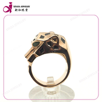 Hot sale big rings gold animal shape men ring cheap stainless steel jewelry