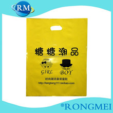 Colorful die cutting plastic LDPE shopping Bag