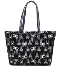 Ladies fashion big spider genuine cow leather tote bag handbag