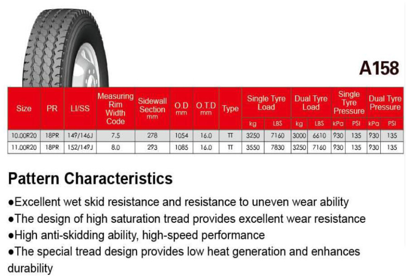 radial truck tyre 1000r20