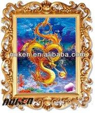 dragon imagen 3d colgando de la pared de imágenes