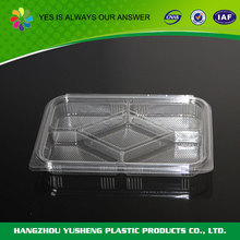 Recycling and non-toxic plastic containers with dividers