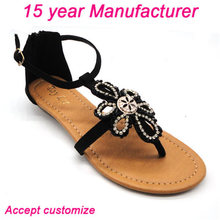 ornaments with stones new design fashion ladies sandals brands