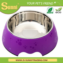 Travel Pet Feeder rubber wholesale stainless steel dog bowl