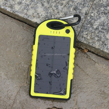 5000mAh Solar Battery Panel Dual USB Port Rain-resistant, Dirtproof and Shockproof Portable Charger Backup External Battery Pack