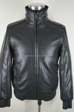 2015 Winter Latest Design Men's Leather Jackets with Zipper