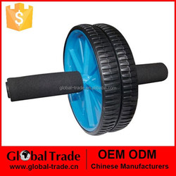 Abdominal Exercise Ab Wheel Roller with Foam Handles, Great Grip, Double Wheels .H0099