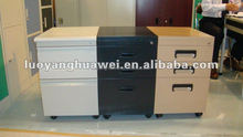Small Movable Steel File Cabinet under Office Desk