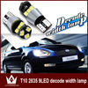 New products Car Interior Side Wedge License Tail Led Light Lamp bulb Error Free 194 w5w 9 SMD T10 Canbus 2835 LED 12V-24V