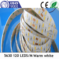 Flexible SMD 5630 Led Strip 120LEDs/m With CE,Rohs high lumen led strip DC12V/24V