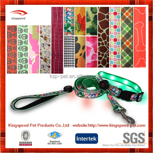 China LED design customised dogs collars leash