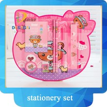 Gifts for kids lovely cartoon shaped 8pcs pencil stationery set
