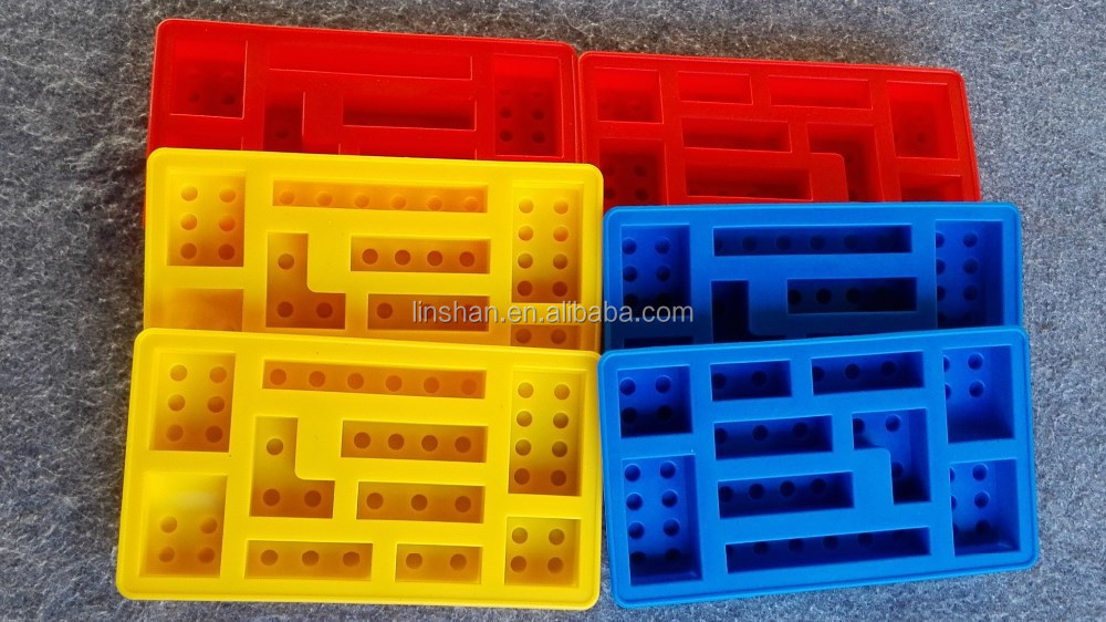 Silicone Ice Cube Tray Building Block For Lego Lovers Toys