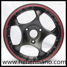 Black machine face car alloy wheel(13,14,15,16,17 inch)