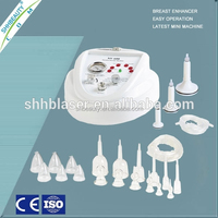 Permanent breaset enlarger cup vacuum breast enlargement device