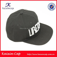 custom made design your own unique puff embroidery flat bill high quality snapback hat