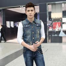 Wholesale OEM Bulk Factory Manale suManManer Han Slim denim vest Man1813 Vests Waistcoats