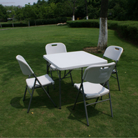HDPE top portable plastic folding table multipurpose outdoor table