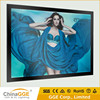 Illuminated slim magnetic LED light box pictures frame A3 with aluminum profile