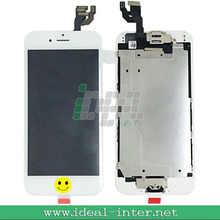 China Manufacturer cell phone display LCD for Iphone 6+4.7 inch+home button+camera