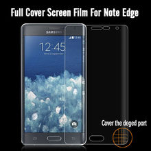 cell phone screen protector for samsung galaxy note edge full cover curved edge screen protector