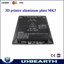 New version hot selling 3D printer MK3 standard aluminum plate 3mm PCB hot bed reprap