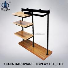 El último estilo simple de hierro forjado soporte colgantes para nombre tienda de ropa