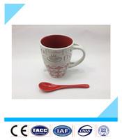 Hot sale custom printed mug,ceramic coffee mug with spoon