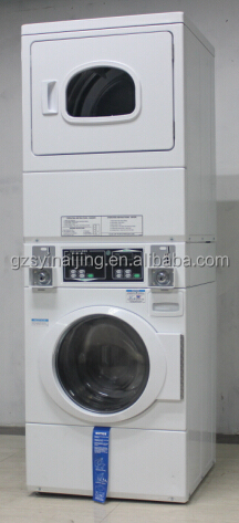 Coin Operated Industrial Washing Machine And Dryer Stack
