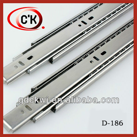 China factory 45mm 3 fold ball bearing stainless steel telescopic channel drawer slide