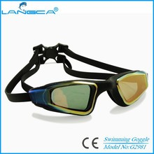 Comfortable coating lens fit to all silicone swim goggles
