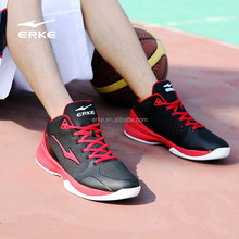 ERKE new style professional high ankle mens brand basketball training shoes with factory price bulk wholesale