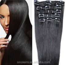 Cheap wholesale 100% 5a human hair clip in hair extension no mix other hair