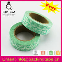 Colorful paper parcel tape for decorative masking and gift packaging WT-80